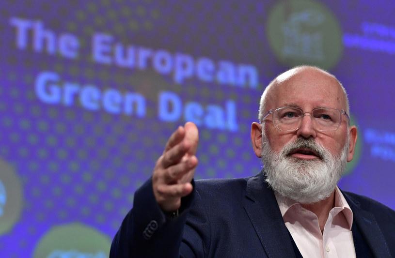 Wiceprzewodniczący KE ds. Zielonego Ładu Frans Timmermans /JOHN THYS /AFP