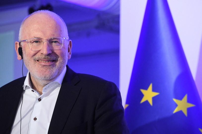 Wiceprzewodniczący KE Frans Timmermans / Radek Pietruszka   /PAP