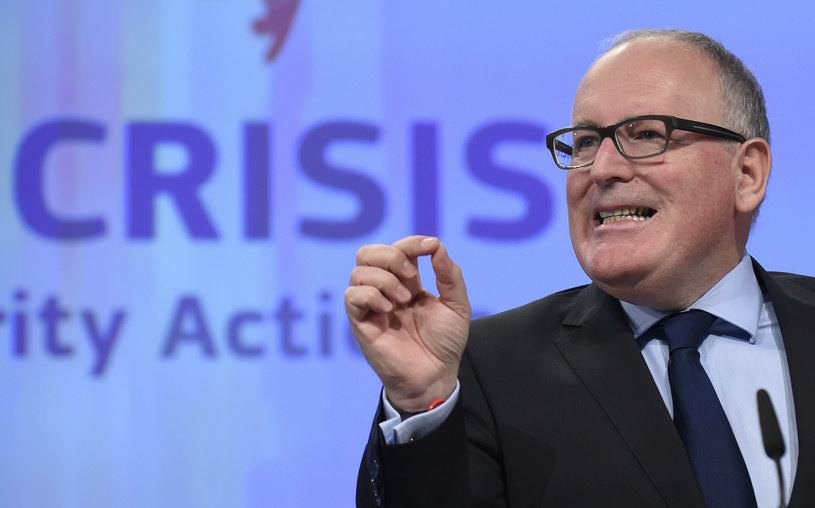 Wiceprzewodniczący Komisji Europejskiej Frans Timmermans /AFP