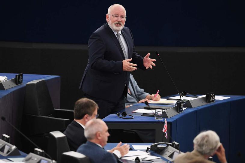 Wiceprzewodniczący Komisji Europejskiej Frans Timmermans /FREDERICK FLORIN /AFP