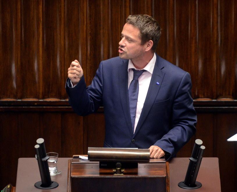 Wiceprzewodniczący KP PO Rafał Trzaskowski, podczas debaty informacji rządu na temat Brexitu, w trakcie posiedzenia Sejmu /Jakub Kamiński   /PAP
