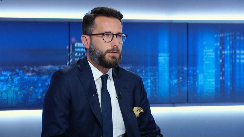 Wicerzecznik PiS Radosław Fogiel. /Polsat News