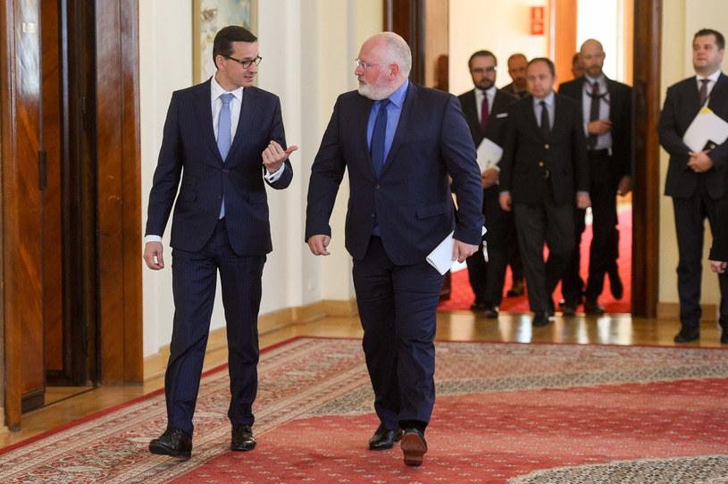 Wiceszef KE Frans Timmermans gościł w poniedziałek w Warszawie / Jacek Domiński /Reporter