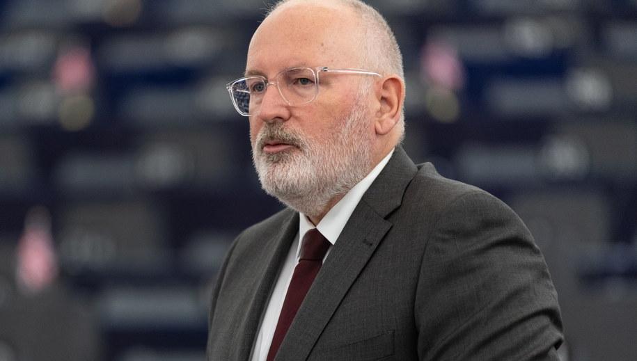 Wiceszef KE Frans Timmermans /Patrick Seeger  /PAP/EPA
