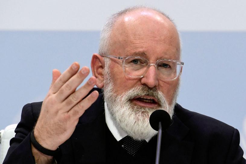 Wiceszef KE Frans Timmermans /CRISTINA QUICLER/ AFP /AFP