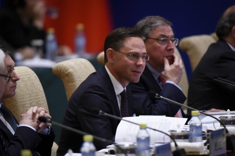 Wiceszef Komisji Europejskiej Jyrki Katainen /WANG ZHAO  /AFP