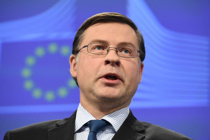 Wiceszef Komisji Europejskiej Valdis Dombrovskis /JOHN THYS / AFP /AFP