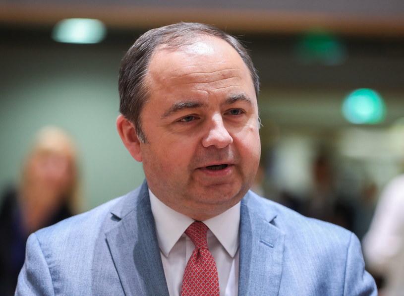Wiceszef MSZ Konrad Szymański w Brukseli /STEPHANIE LECOCQ  /PAP/EPA