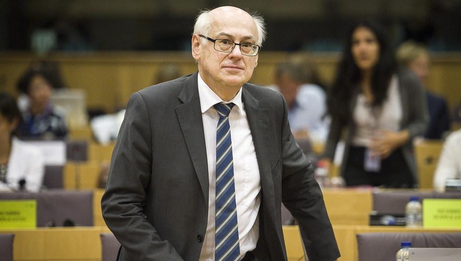 Wiceszef PE Zdzisław Krasnodębski /Wiktor Dąbkowski   /PAP/EPA
