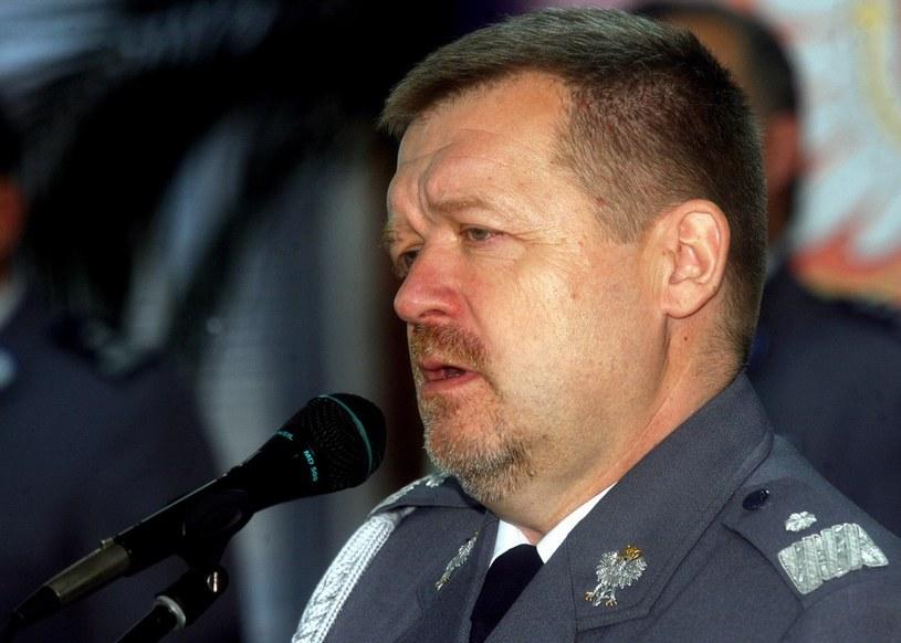 Wiceszef policji Andrzej Rokita żegna się ze stanowiskiem /Artur Barbarowski /East News