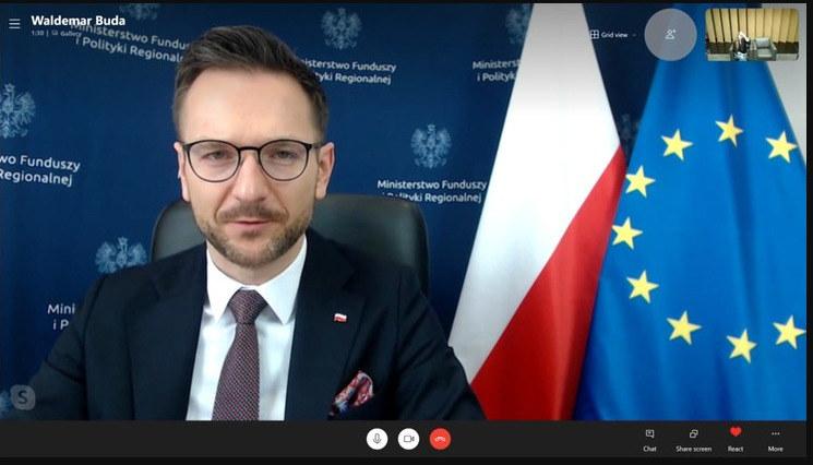 Wiceszef resortu funduszy i polityki regionalnej Waldemar Buda zapewniał, że prace nad Krajowym Planem Odbudowy zmierzają ku końcowi