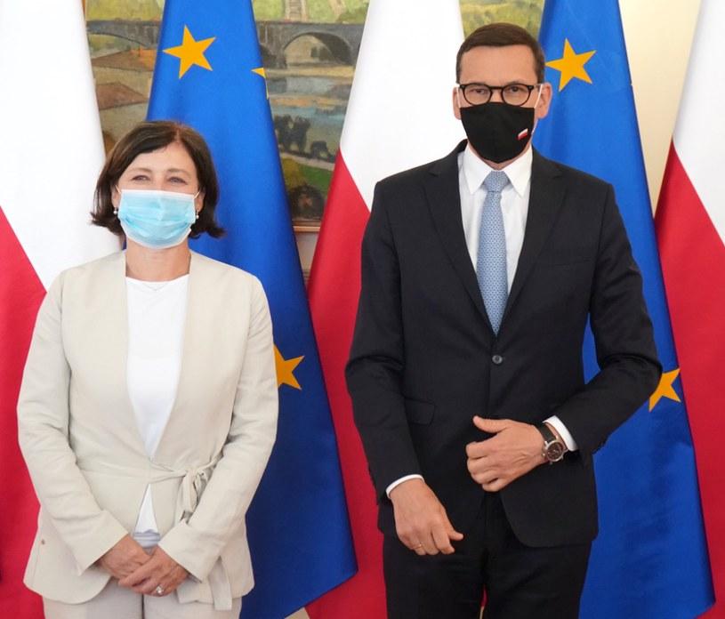 Wiceszefowa KE Věra Jourová i premier Mateusz Morawiecki / Věra Jourová /facebook.com