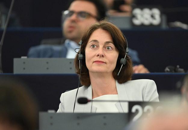 Wiceszefowa Parlamentu Europejskiego Katarina Barley /Patrick Seeger  /PAP/EPA