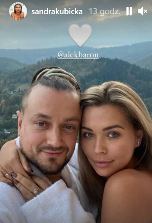 Widać, że Sandra Kubicka jest szczęśliwa w nowym związku /screen /Instagram