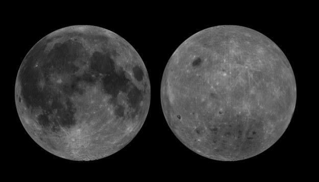 Widoczna i niewidoczna strona Księżyca /materiały prasowe
