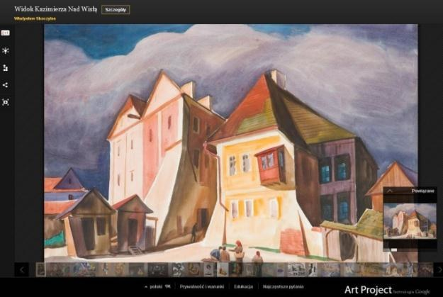 Widok Kazimierza Nad Wisłą - teraz w Google Art Project /materiały prasowe