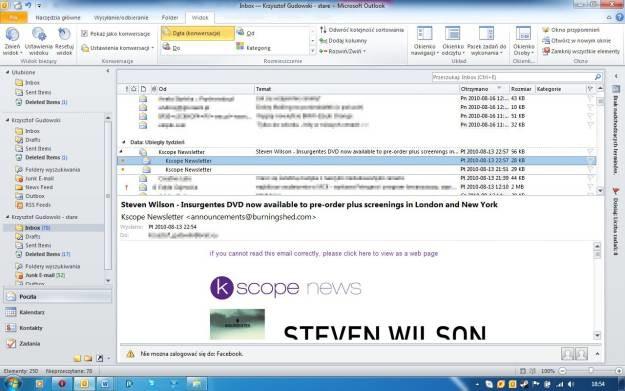 Widok konwersacji to nowość w Outlooku. Automatycznie grupuje wiadomości o takich samych tematach /INTERIA.PL