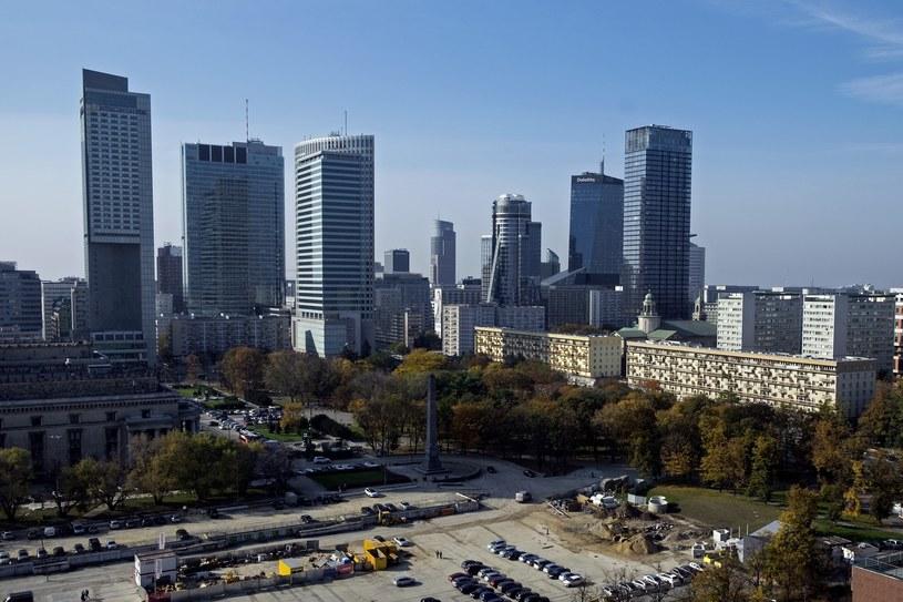Widok na centrum Warszawy /East News