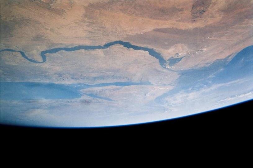 Widok na Egipt i rzekę Nil z satelity /NASA