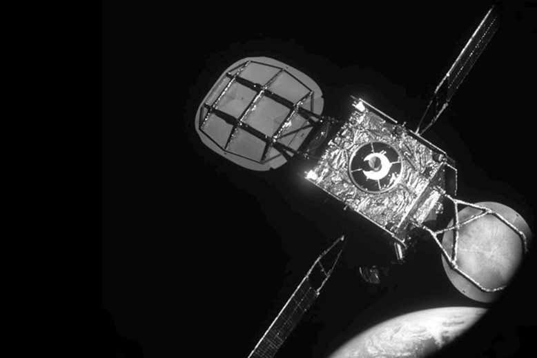 Widok na IS-901 podczas dokowania MEV-1 /materiały prasowe