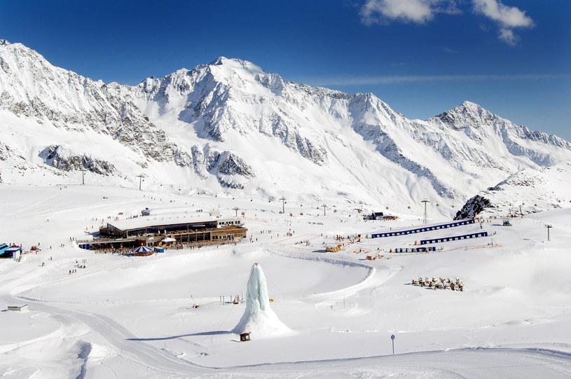 Widok na jedną ze stacji lodowca Stubai /materiały prasowe