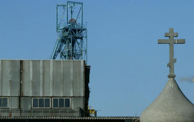 Widok na kopalnię Zasiadki w Doniecku fot. Alexander Khudoteply /AFP