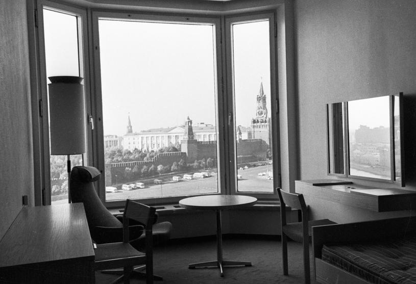 Widok na Kreml z jednego z apartamentów w hotelu Rossija /East News