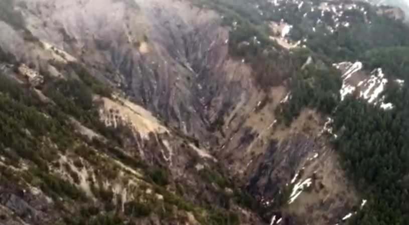 Widok na miejsce, w którym doszło do katastrofy /AFP