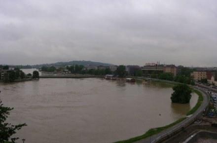 Widok na Most Dębnicki 19 maja o godzinie 14.30/fot. Michał Słupiński /INTERIA.PL