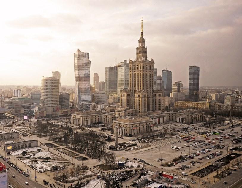 Widok na Pałac Kultury i Nauki oraz tereny wokół niego /Jan Bielecki /East News