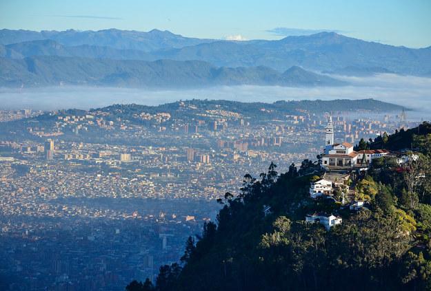 Widok na panoramę Bogoty, stolicy Kolumbii. /Shutterstock