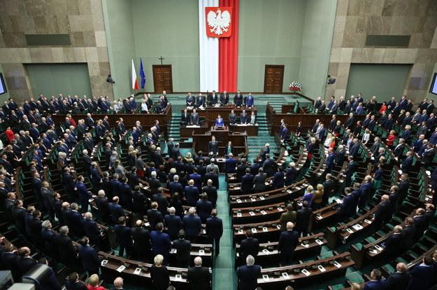 Widok na salę plenarną /Rafał Guz /PAP