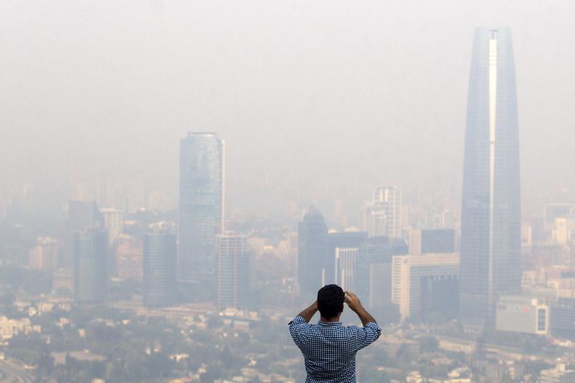 Widok na Santiago /Claudio Reyes /AFP