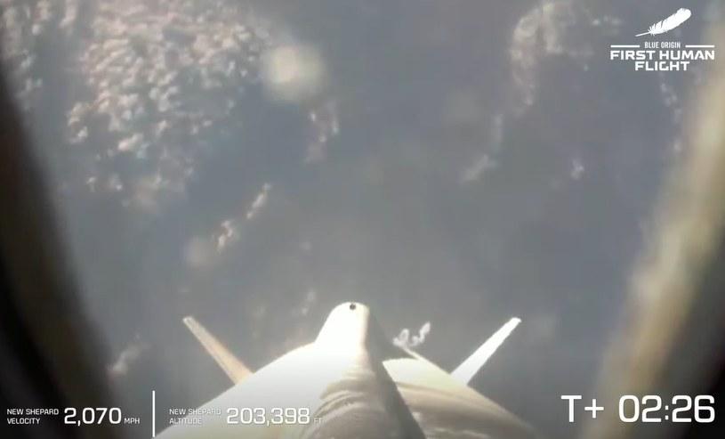 Widok na Ziemię z rakiety /materiały prasowe