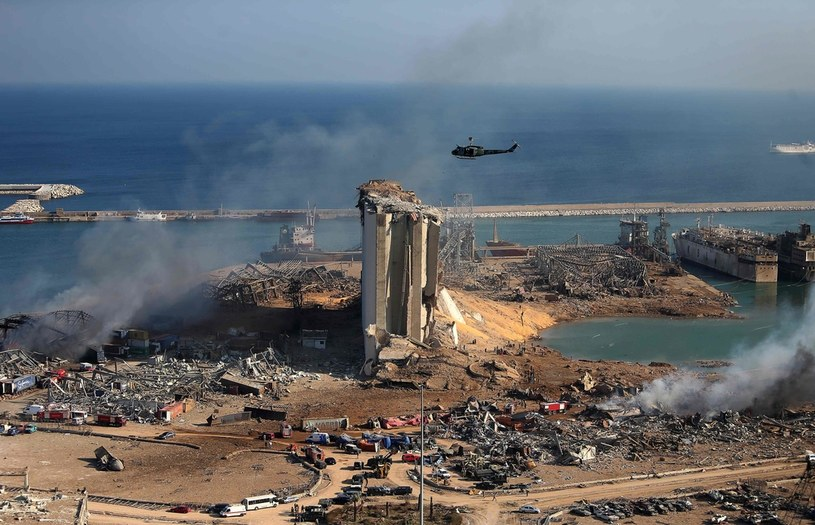 Widok po eksplozji w Bejrucie /AFP