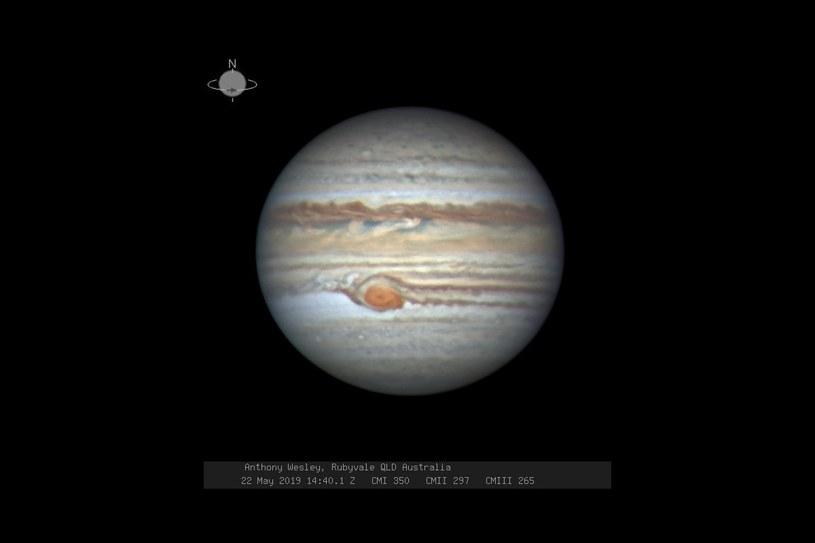 Widok WCP w dniu 22 maja 2019. Fot. astronom amator Anthony Wesley z Australii /materiały prasowe