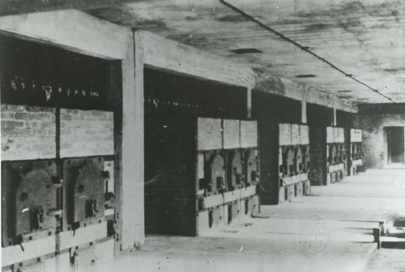 Widok wnętrza hali pieców w krematorium nr II, fotografia wykonana przez SS w 1943 roku. Fot.  Państwowe Muzeum Auschwitz-Birkenau /Deutsche Welle