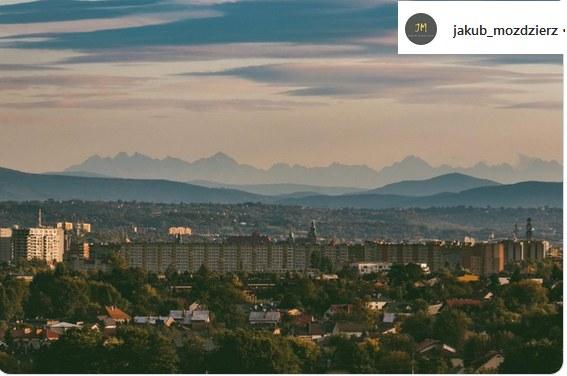 Widok z Krakowa na Tatry /Instagram /