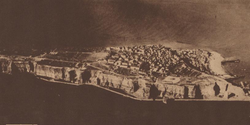 Widok z lotu ptaka na Helgoland w 1919 roku /New York Tribune /domena publiczna