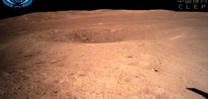 Widok z pokładu Chang'e 4 - 03.01.2019 /materiały prasowe