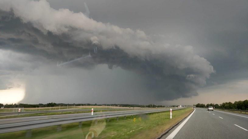 Widok z trasy S7 w okolicach Pasłęka;  Autor zdjęcia: Robert Milian /Archiwum autora