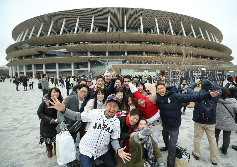 Widok z zewnątrz na Stadion Narodowy w Tokio /AFP
