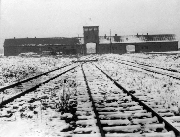 Widok zaśnieżonych tras prowadzących do komór gazowych obozu koncentracyjnego Auschwitz. Dokłada data zrobienia nie jest znana / Guenter Schindler /PAP/DPA