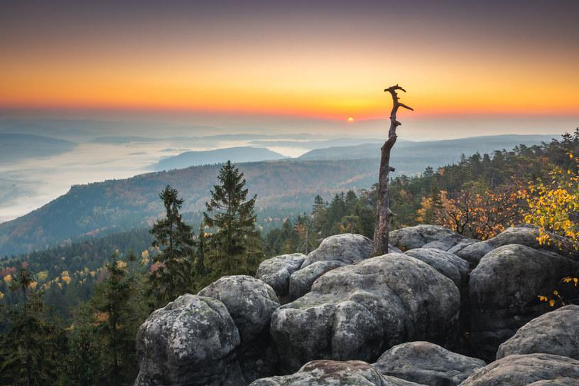 Widok ze Strzelińca w Górach Stołowych /123RF/PICSEL