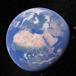 Widok ziemi z kosmosu dostępny na mobilnym Google Earth