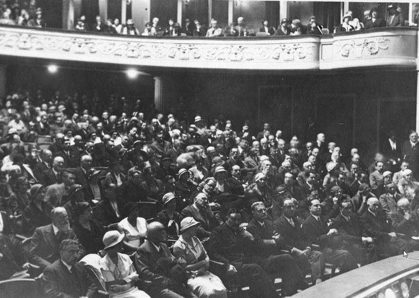 Widownia w Teatrze Polskim w Warszawie /Z archiwum Narodowego Archiwum Cyfrowego