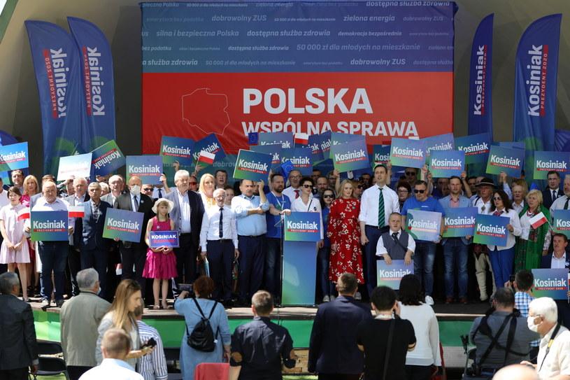 Wiec Władysława Kosiniaka-Kamysza w Tarnowie, 7 czerwca 2020. /PAP/Art Service /PAP