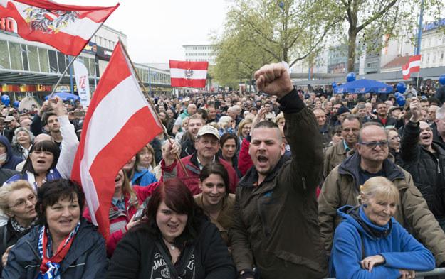 Wiec zwolenników Wolnościowej Partii Austrii /AFP