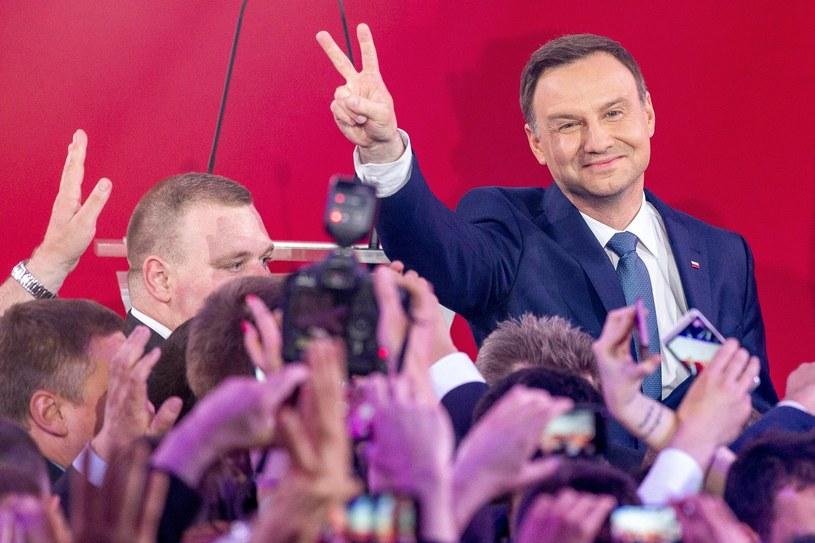 Wieczór wyborczy Andrzeja Dudy /fot. Andrzej Iwanczuk /Reporter