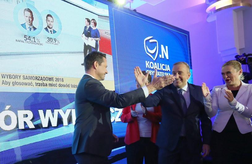 Wieczór wyborczy KKW Koalicji Obywatelskiej /Leszek Szymański /PAP